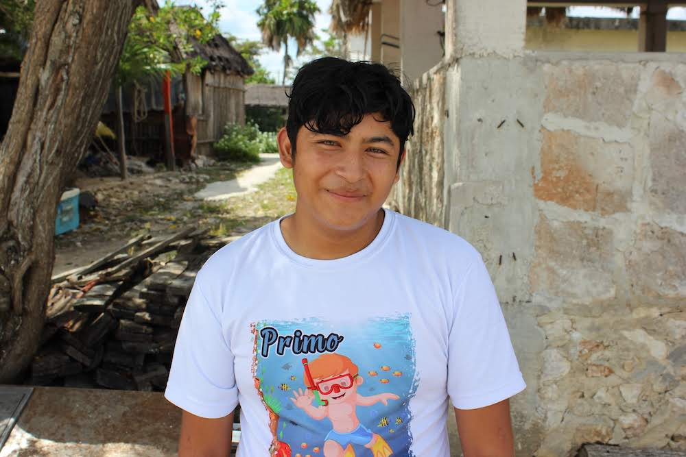 Jesus has a kind, friendly disposition and a soft smile. He loves food and wants to study gastronomy. And he also dreams of learning English—he said that building his language skills is one of his biggest goals of the summer.