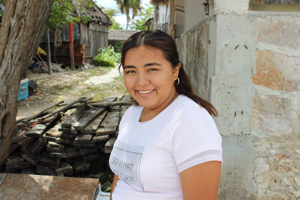 She is an artist who dreams of becoming an architect or an engineer, and she is most excited to learn English this summer. One day, she wants to open a Casa de Cultura—a cultural center where her community can learn together.